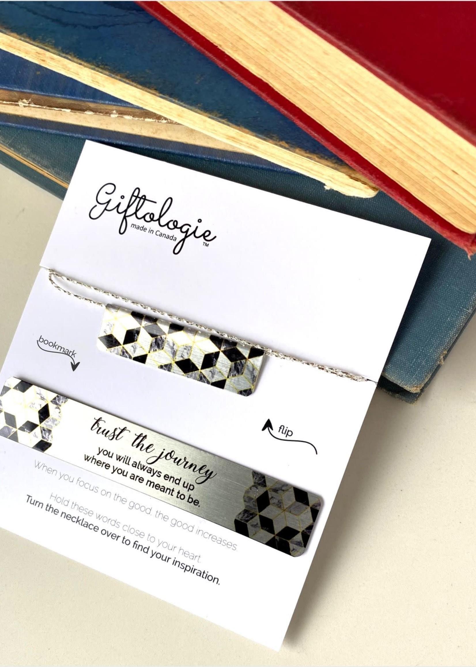 Giftologie Giftologie - Marble Mosaic Bar Necklace Set