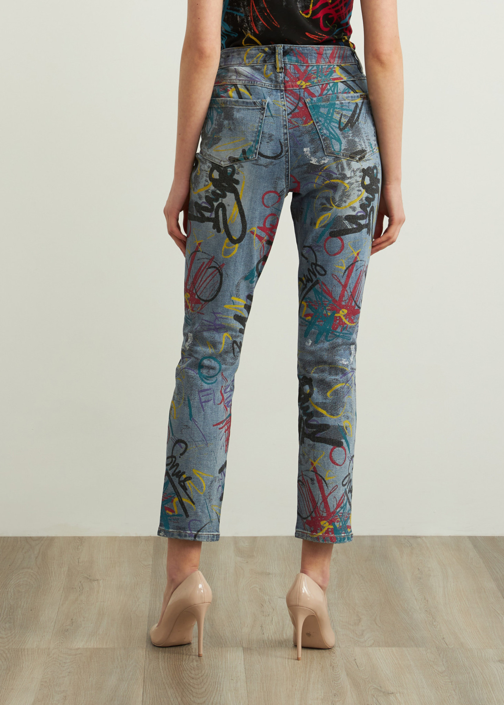 Joseph Ribkoff Joseph Ribkoff Graffiti Slim Leg Jeans
