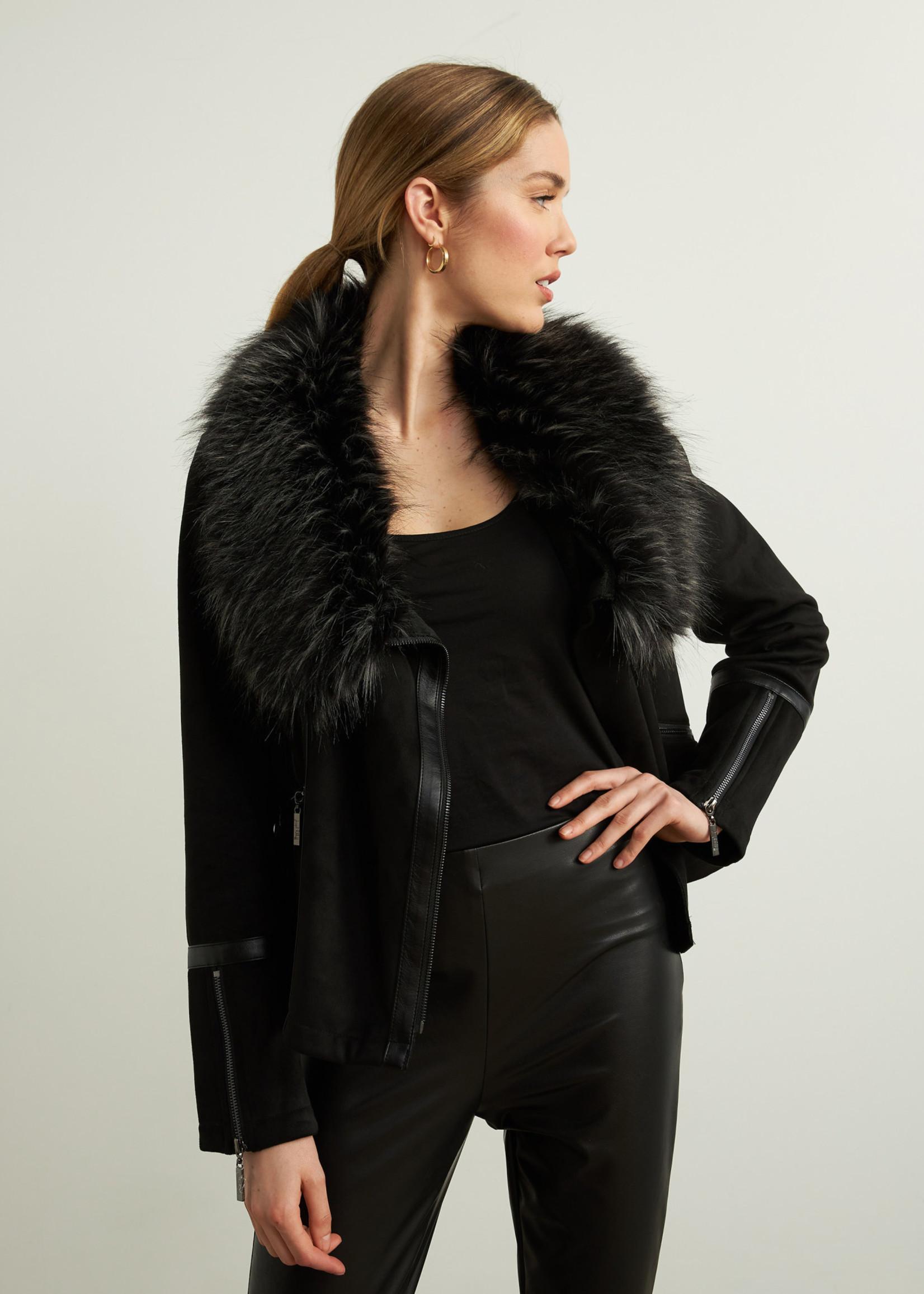 Joseph Ribkoff Joseph Ribkoff  Jacket w/ Faux Fur Collar