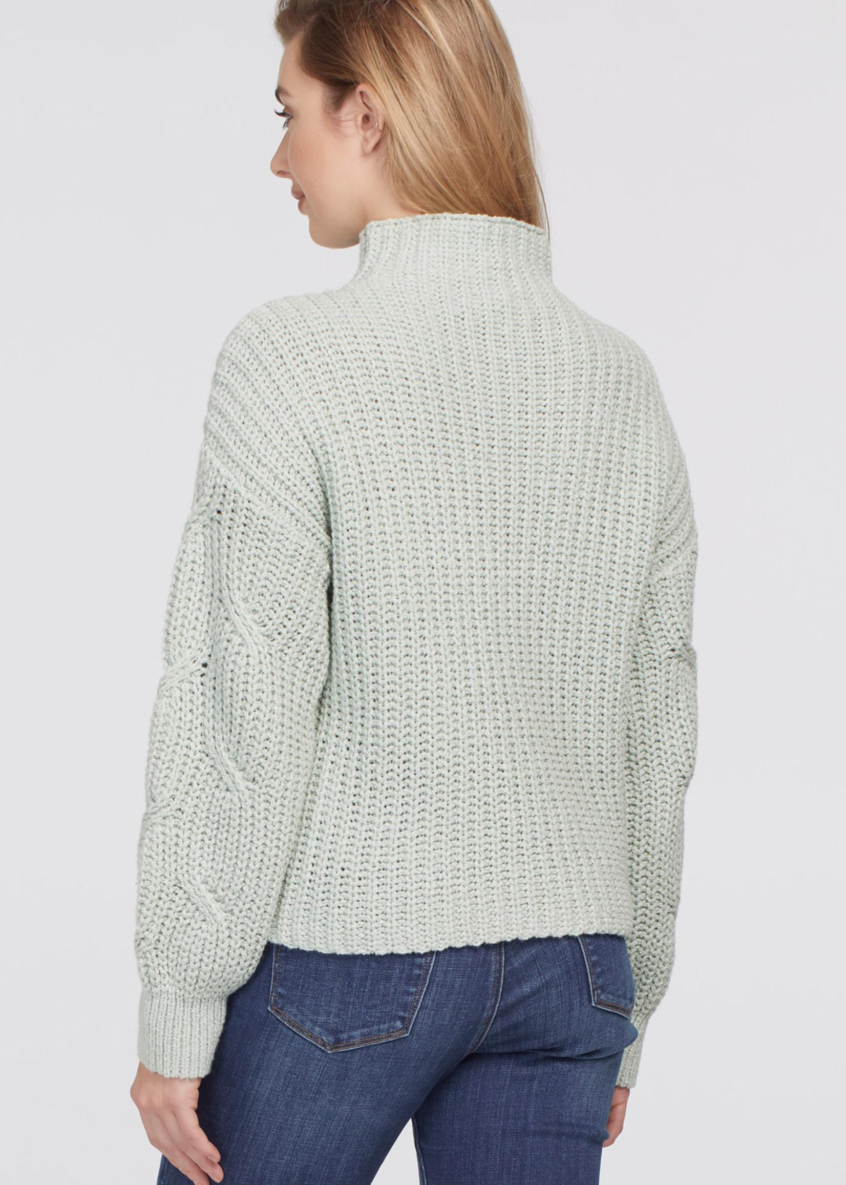 Tribal Tribal High Neck Oversize Sweater Mint