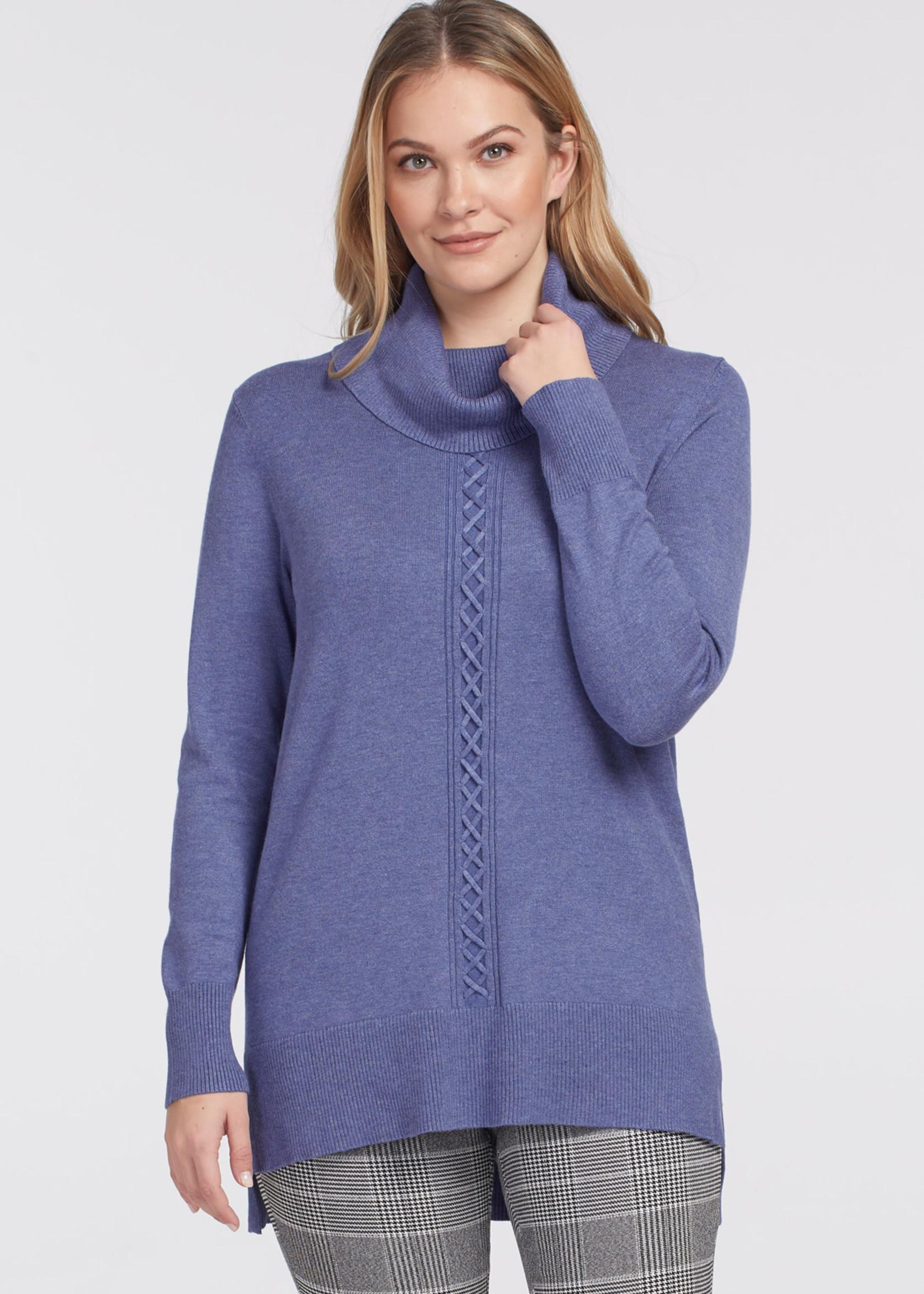 Tribal Tribal L/S Cowl Neck Sweater Arctic Blue