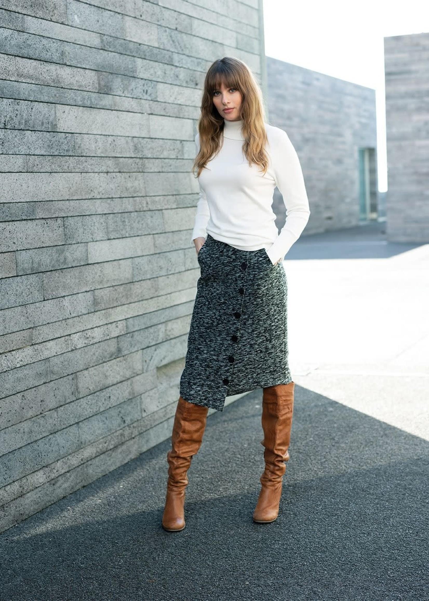 Marble Marble Skirt Asymmetrical Hem