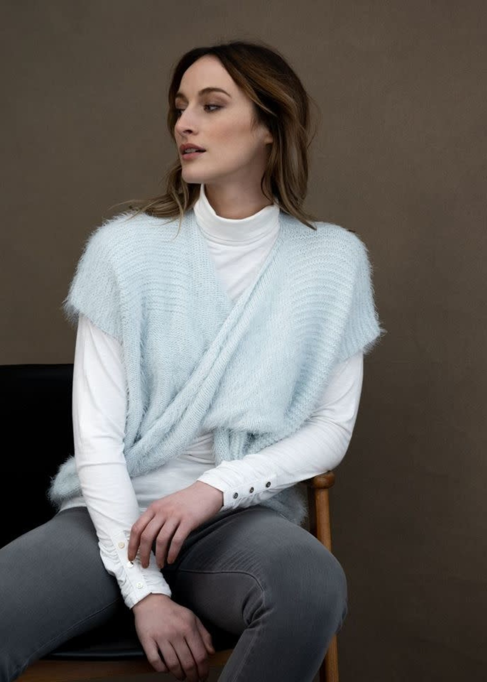Marble Marble Front Knot Sweater