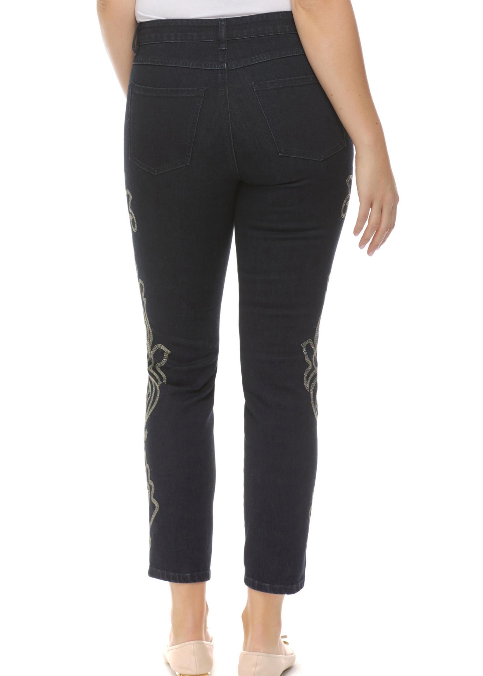 FDJ French Dressing FDJ Olivia Slim Jeans w/Stitch Embroidery