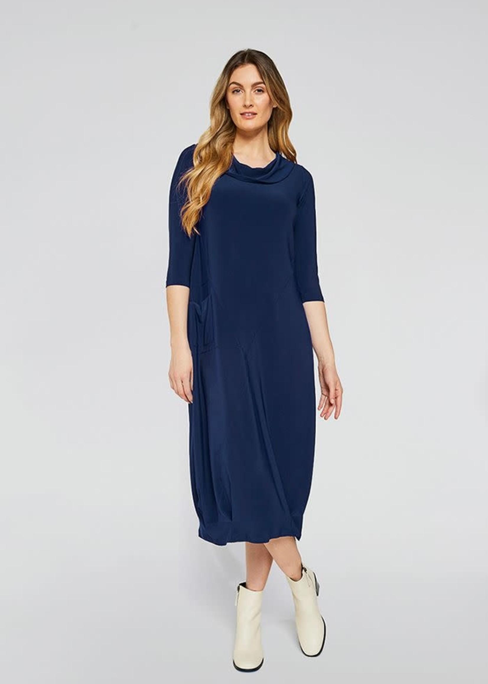 Sympli Sympli Angle Seam Pleat Hem Dress