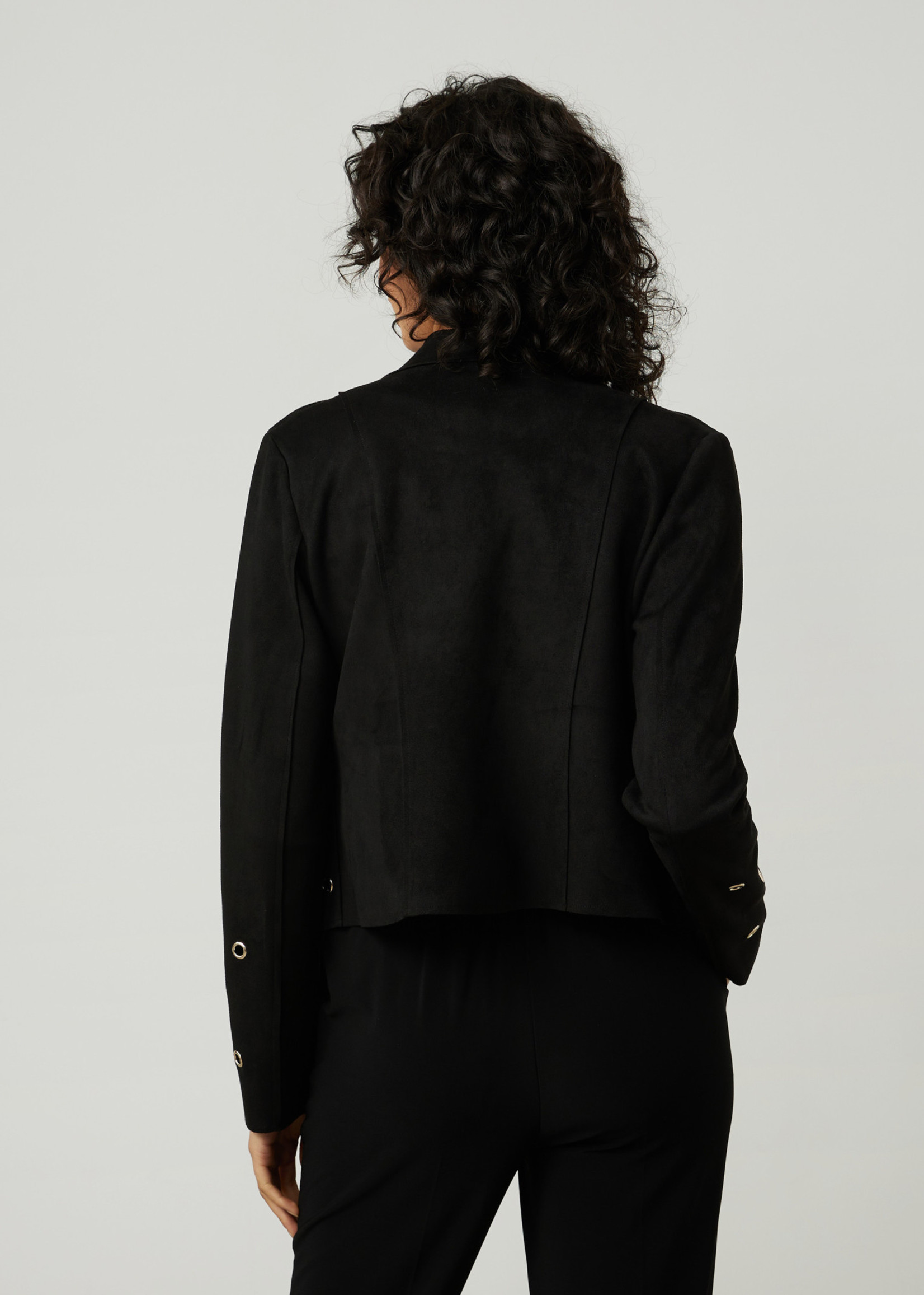 Joseph Ribkoff Joseph Ribkoff  Faux Suede Black Jacket w/Grommets