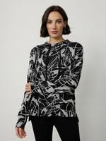 Joseph Ribkoff Joseph Ribkoff  Graphic Black and Silver Sweater