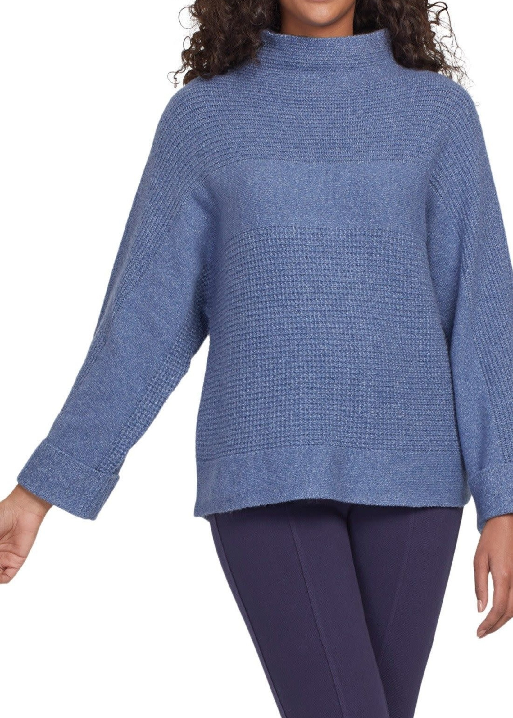 Tribal Tribal Funnel Neck Sweater Arctic Blue
