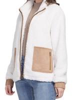 Tribal Tribal Mock Neck Zip Jacket w/Contrasting Pockets