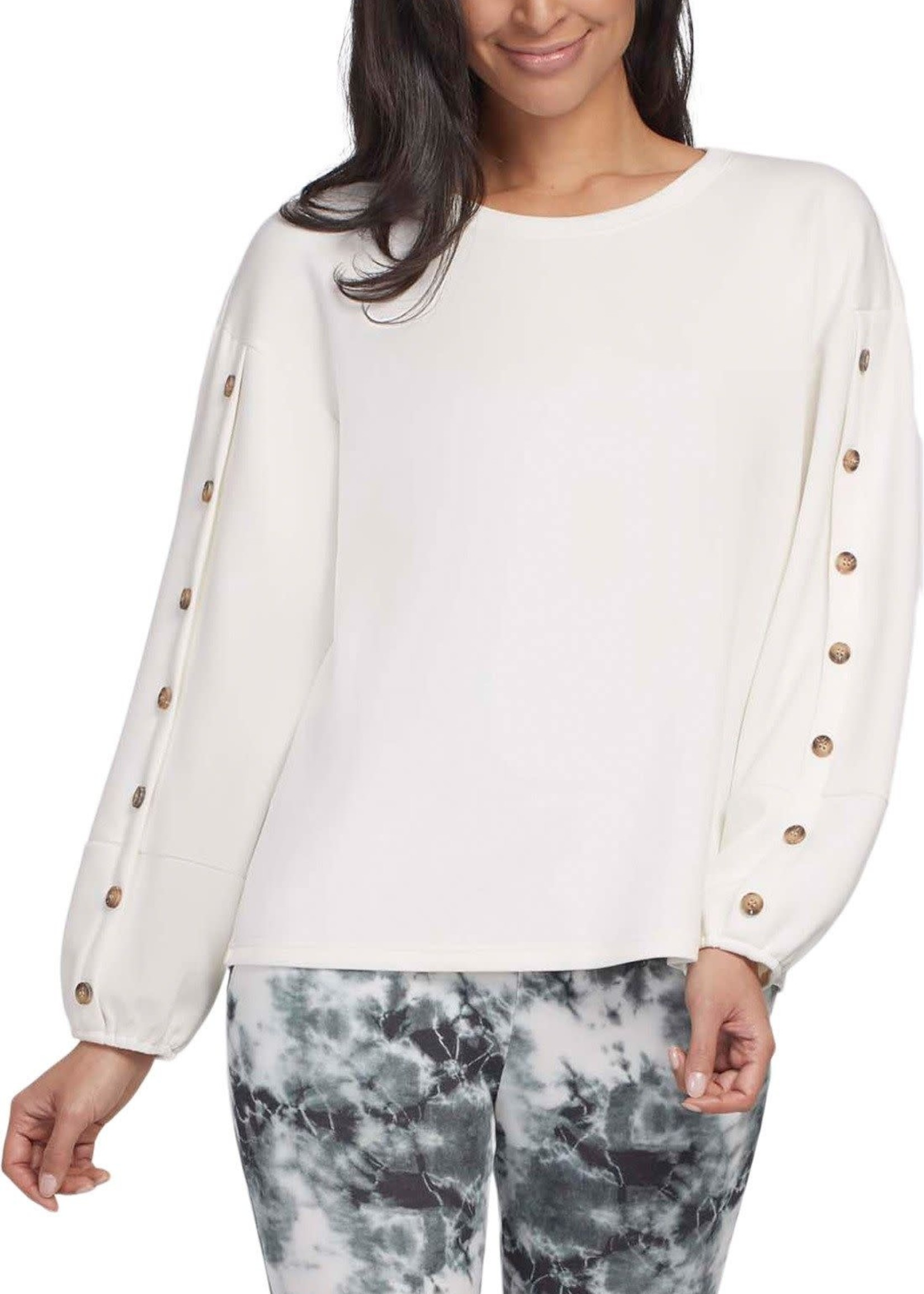 Tribal Tribal Long Sleeve Top w/Buttons