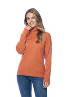 FDJ French Dressing FDJ Envelop Neck Pullover Rust Heather