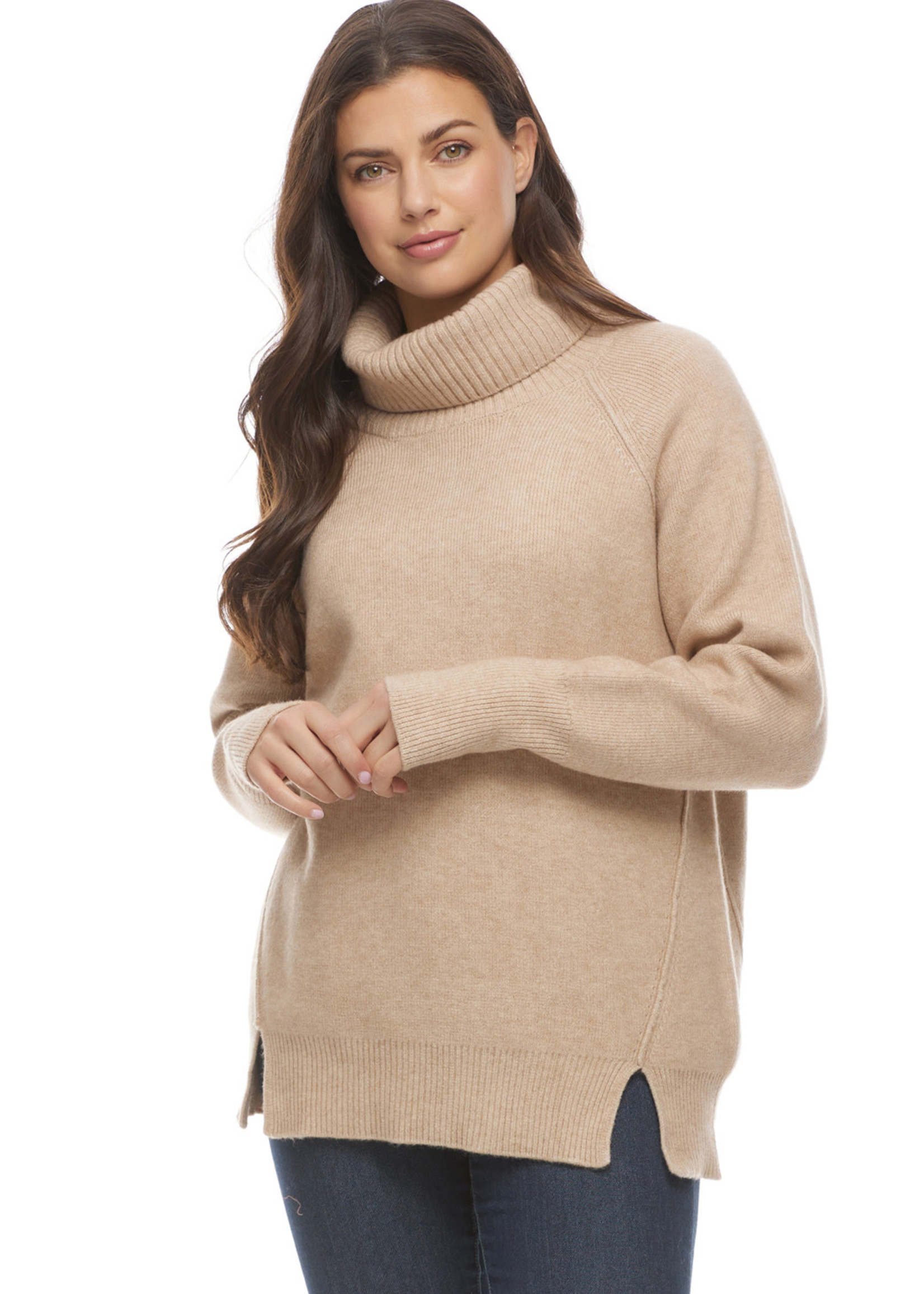 FDJ French Dressing FDJ Relaxed Cowlneck Taupe Heather