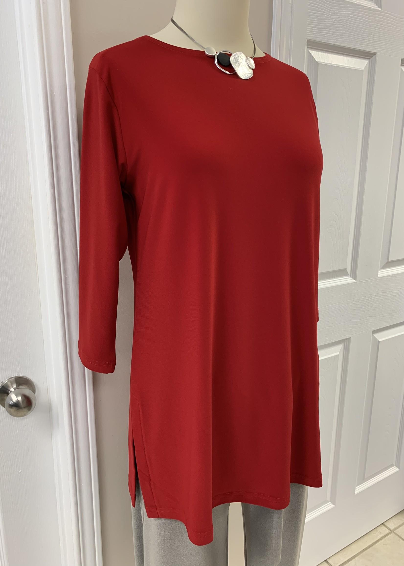 Sympli Sympli Nu Ideal Tunic 3/4 Sleeve Red