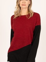 ISCA ISCA Top Burgundy and Black