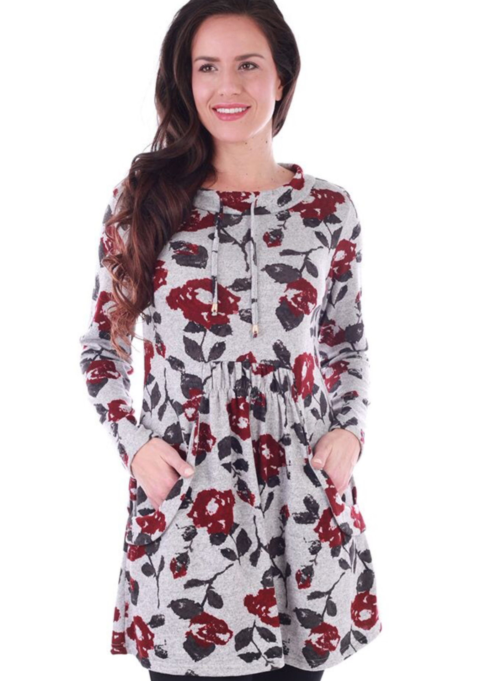 Fresh FX Fresh FX  Sweater Dress w/Pockets