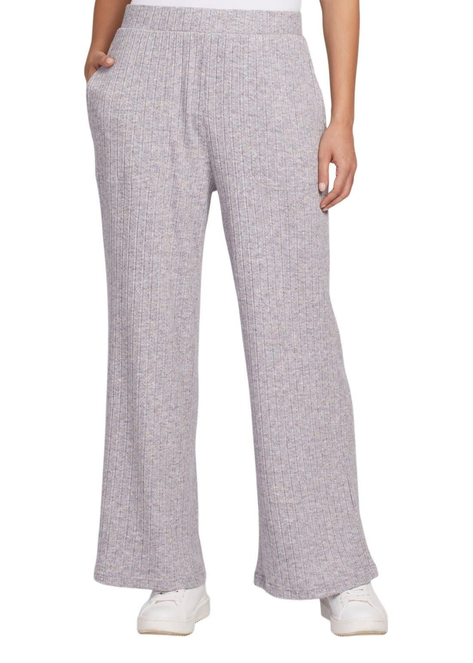 Tribal Tribal Pull On Ankle Pant w/Pocket Grey Mix