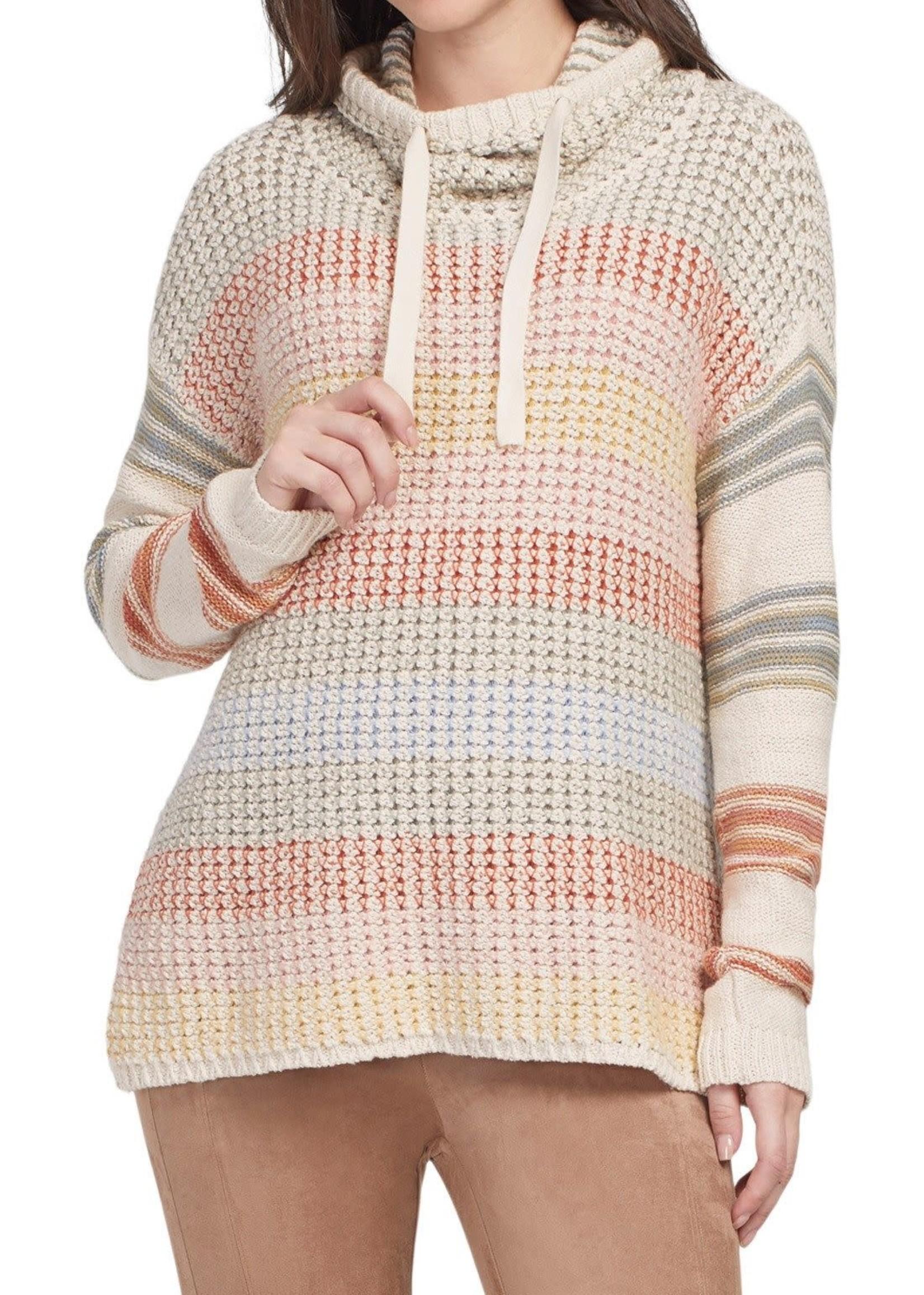 Tribal Tribal L/S Drop Shoulder Sweater Blush