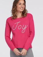 Tribal Tribal L/S Intarsia Sweater Hot Pink