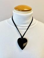 Zsiska Zsiska Small Heart Pendant Black