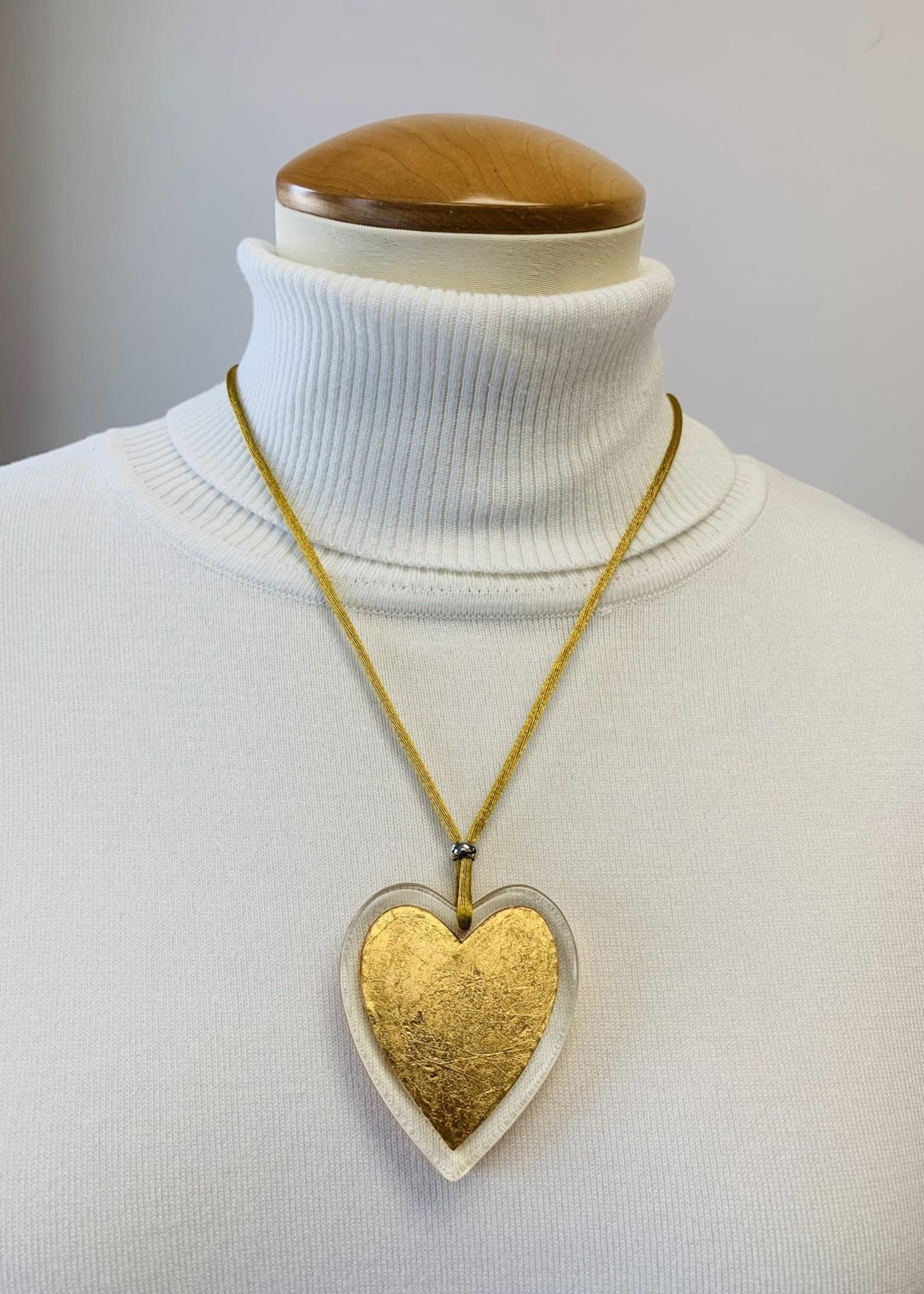 Zsiska Zsiska Small Heart  Pendant Gold Leaf