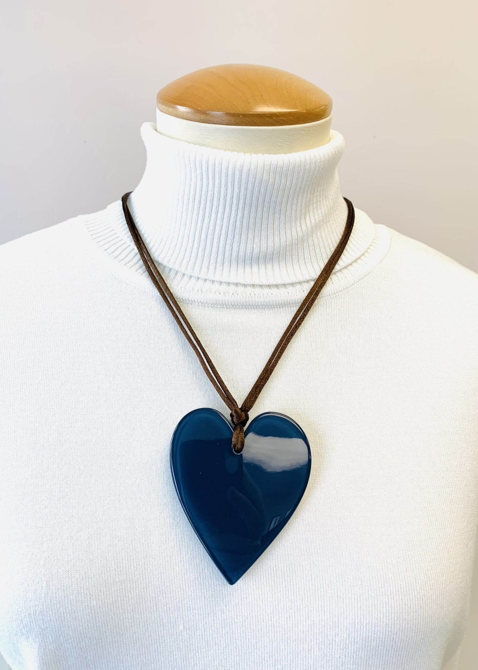 Zsiska Zsiska Large Heart Pendant Teal