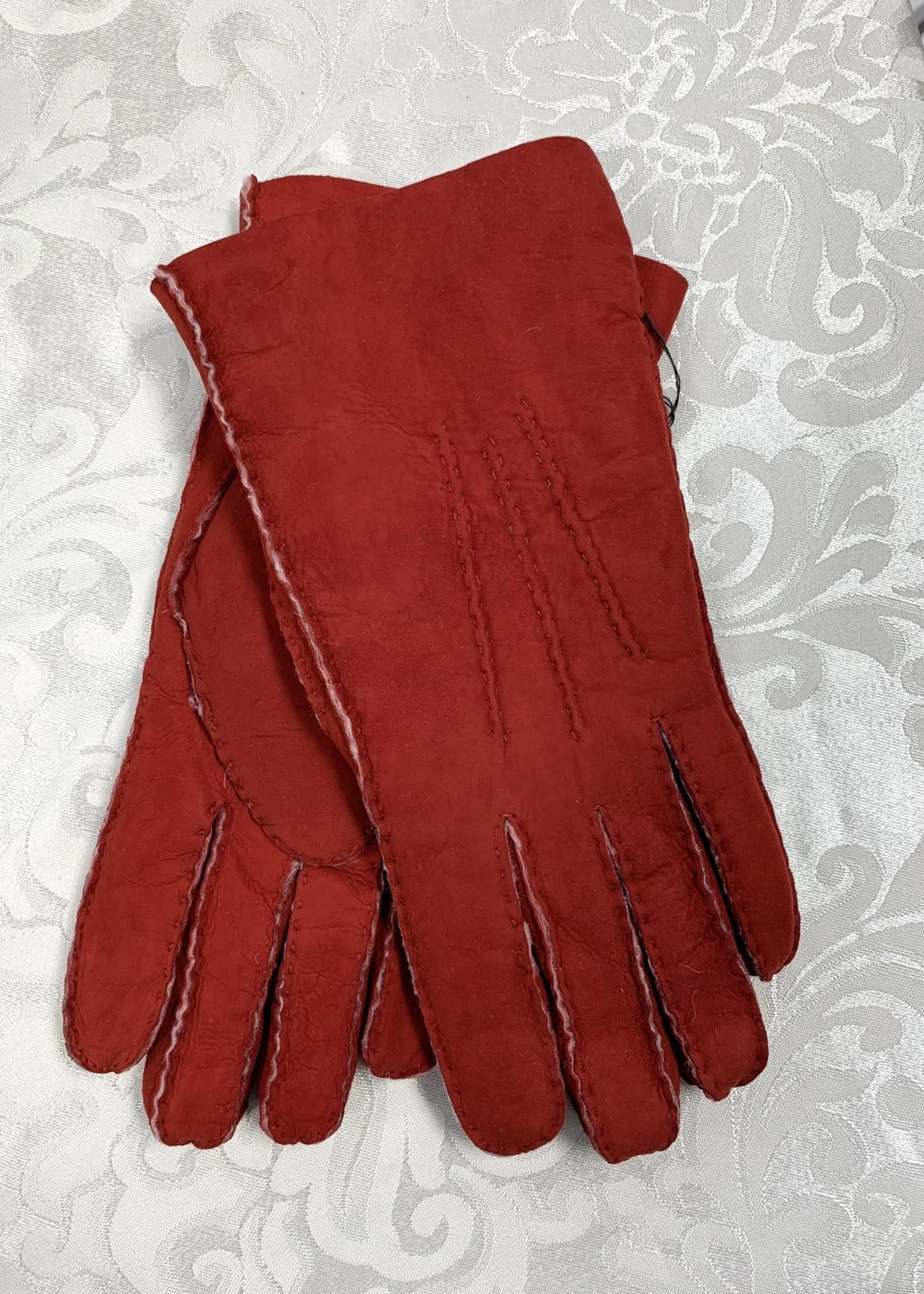Albee Sheepskin Gloves Red