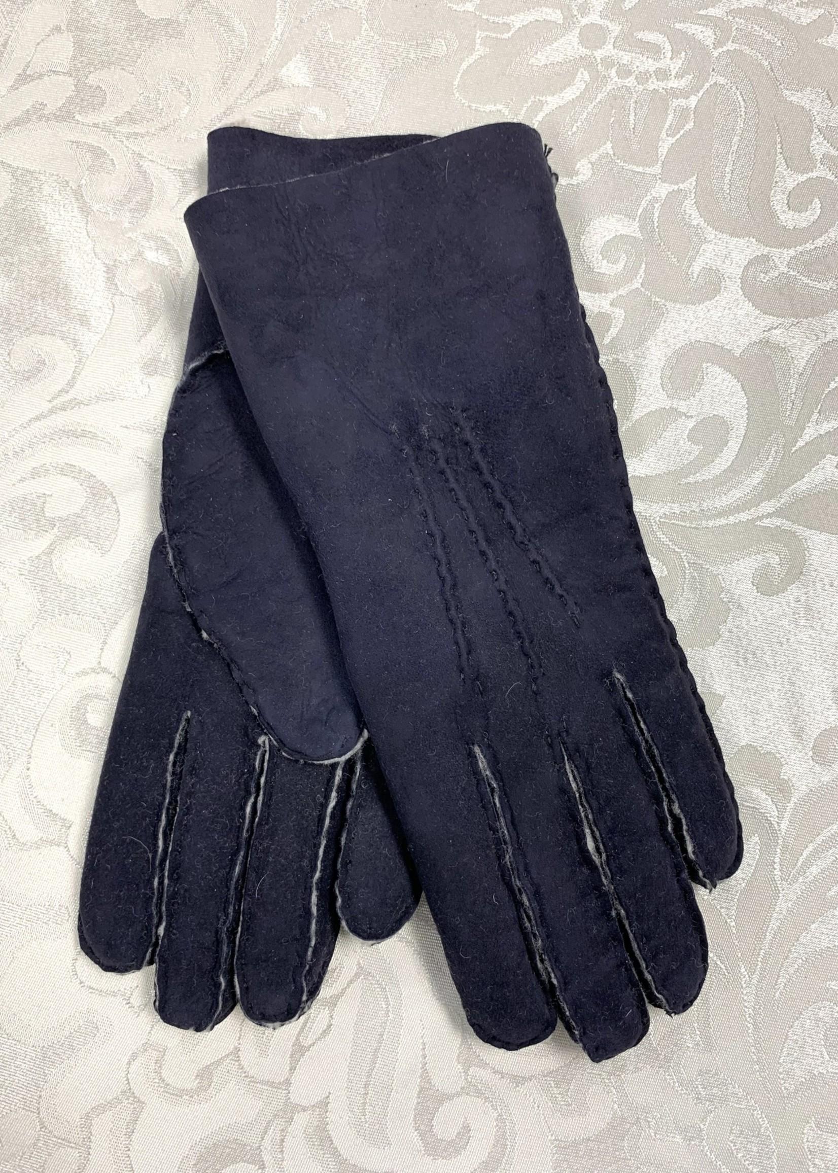 Albee Sheepskin Gloves Navy