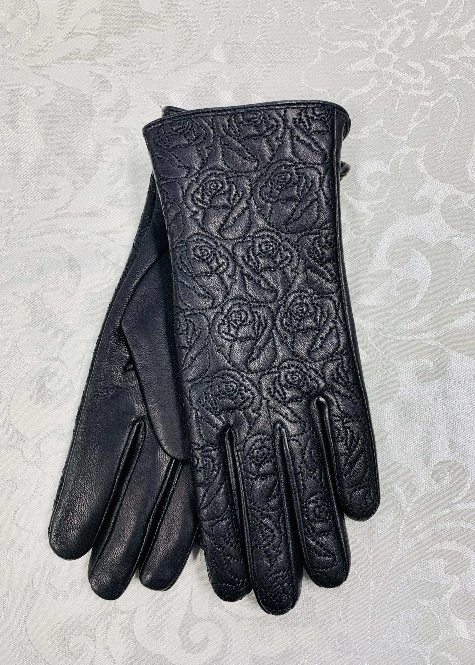 Albee Leather Gloves  Black