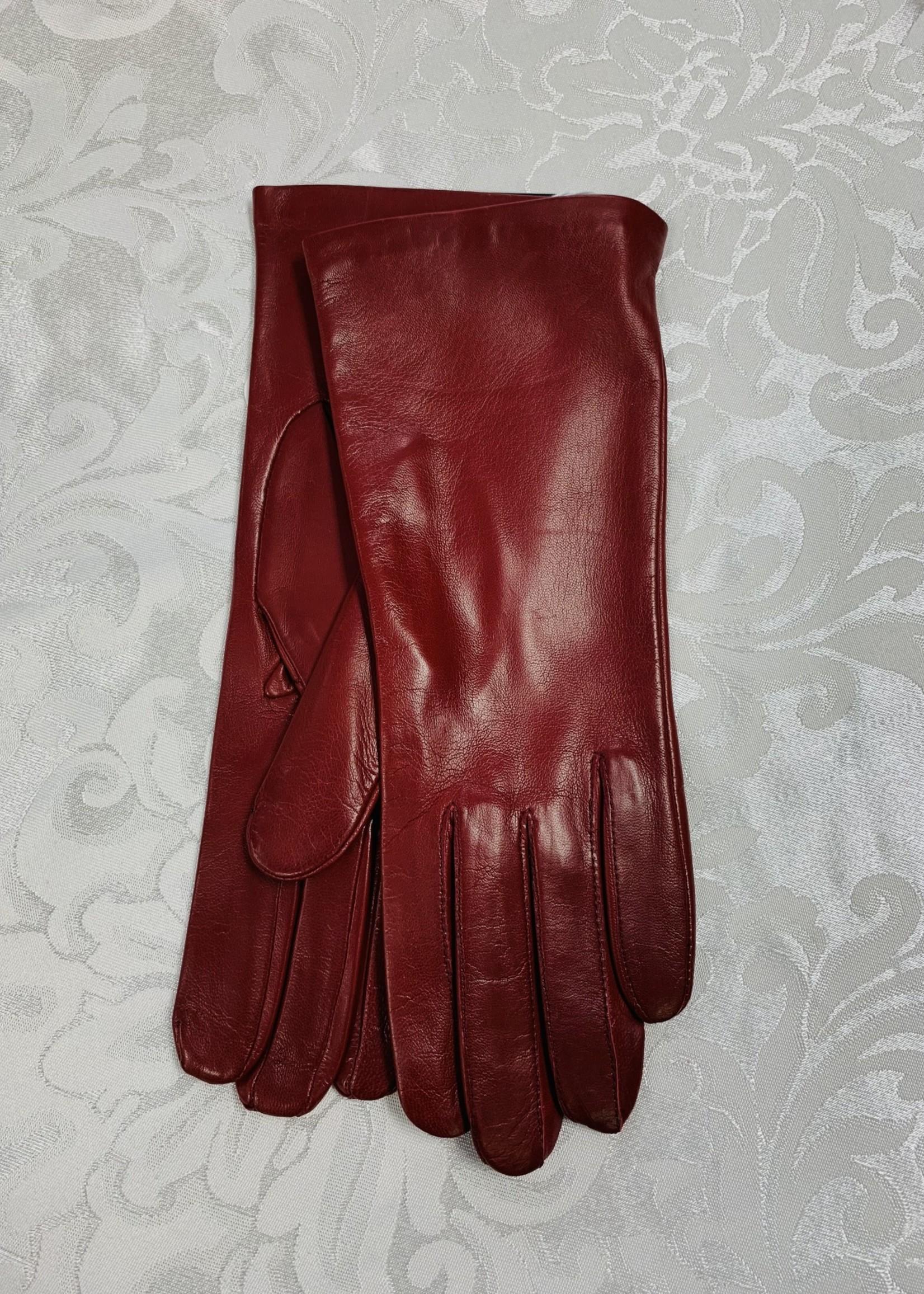 Albee Lambskin Gloves Burgundy