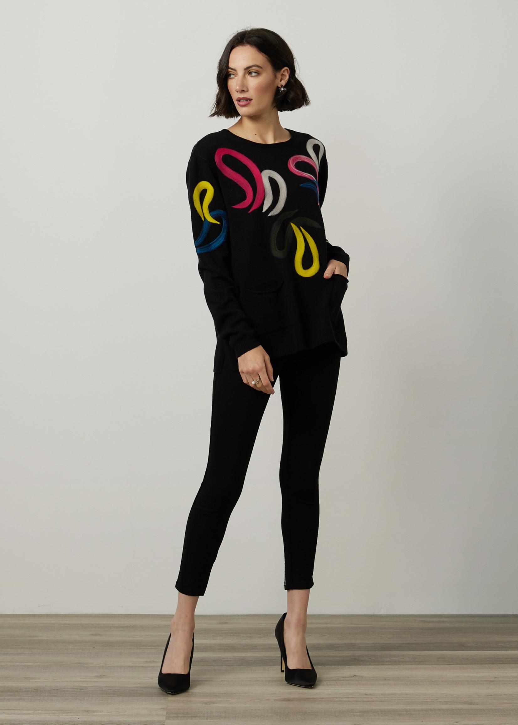 Joseph Ribkoff Joseph Ribkoff Sweater With Felted Detail