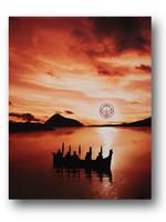 Circle of Eagles Kwa Kwem Tn at Sunset Canvas 16x20