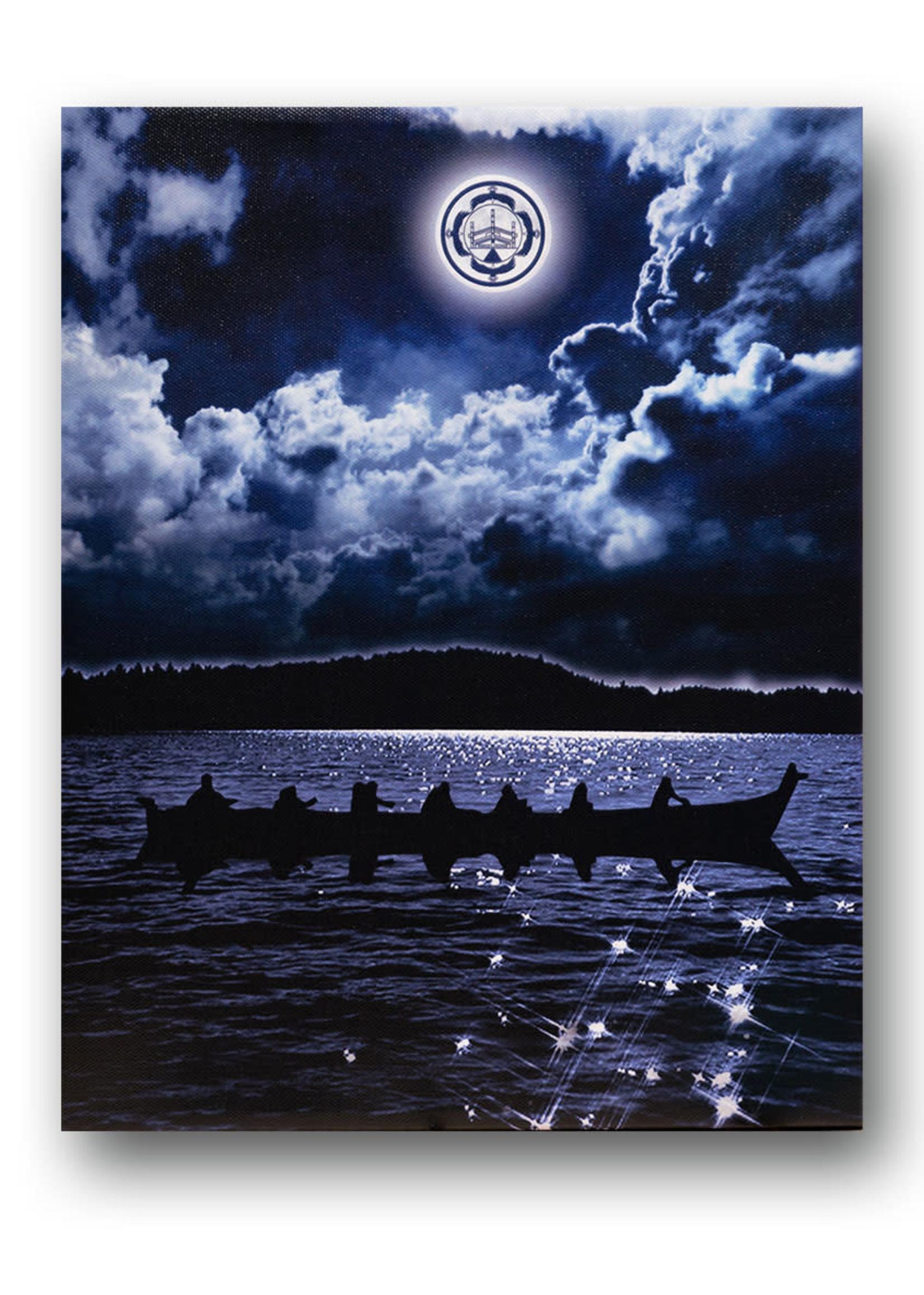 Circle of Eagles Kwa Kwem Tn by Moonlight Canvas 11x14