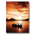Circle of Eagles Kwa Kwem Tn at Sunset Art Card 5x7