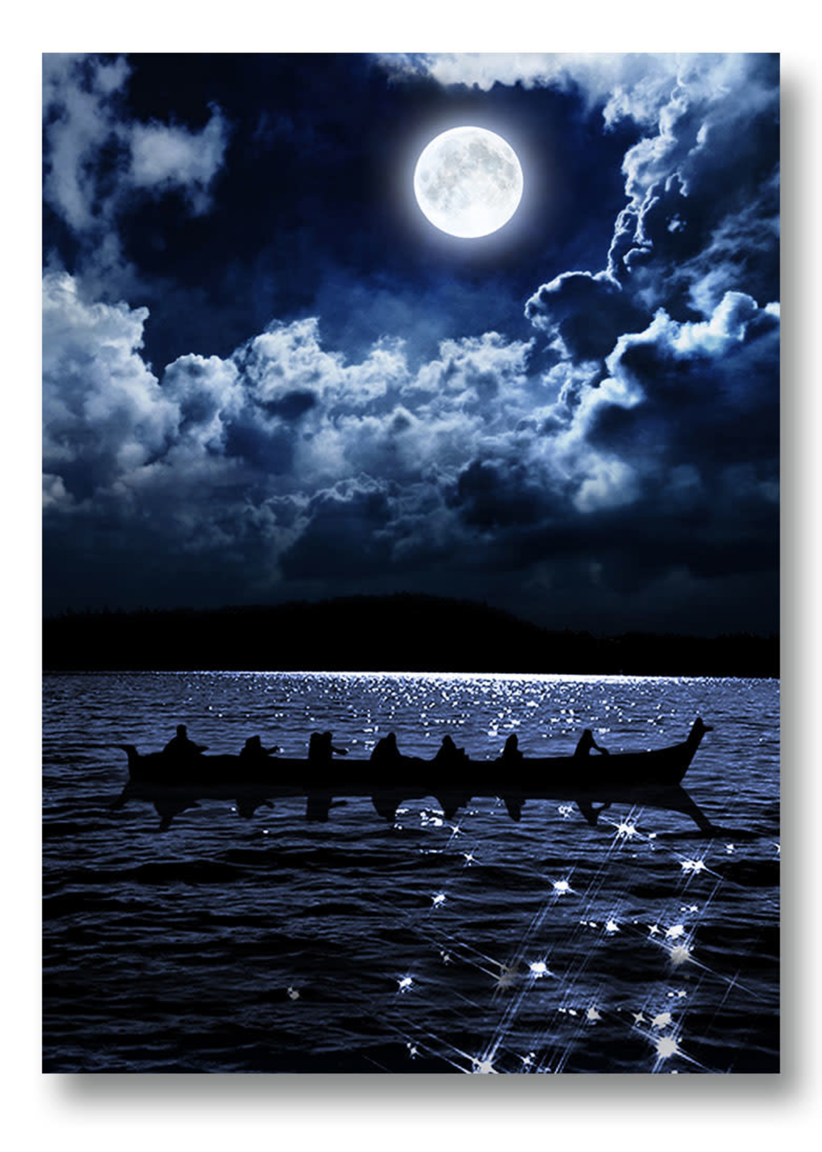 Circle of Eagles Kwa Kwem Tn by Moonlight Art Card 5x7