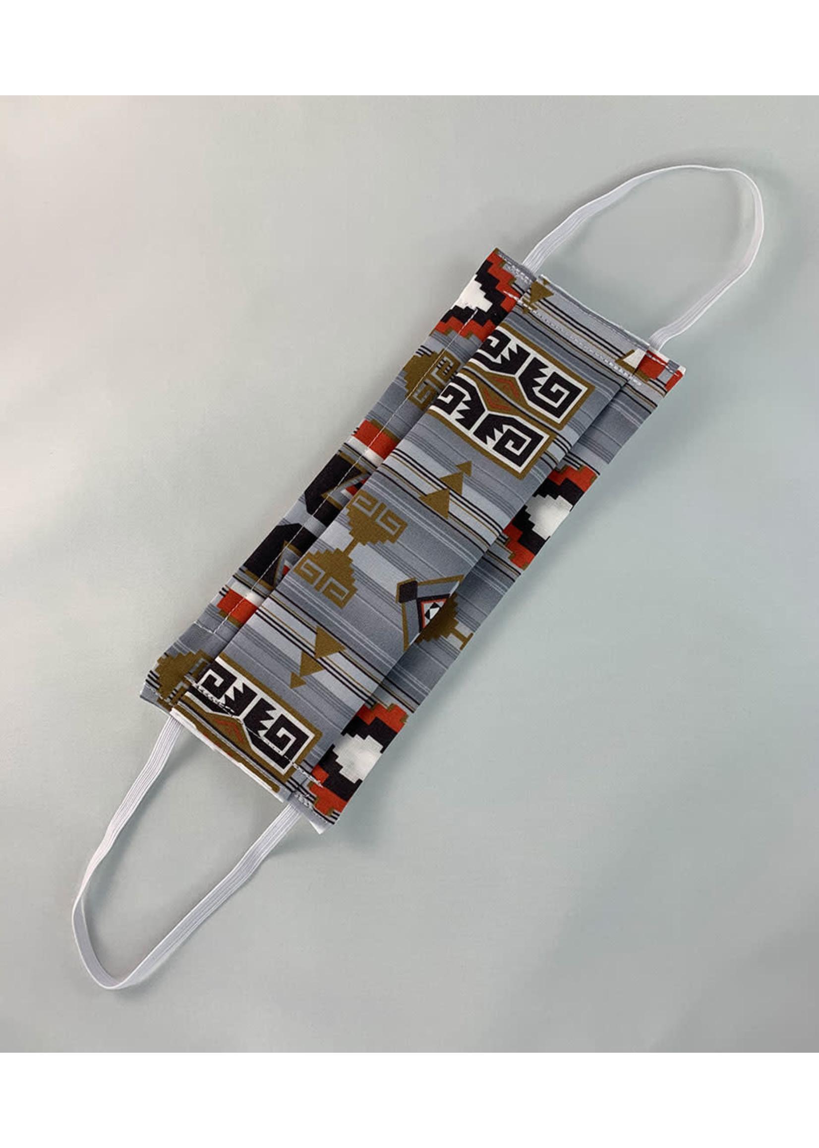 Circle of Eagles Traditional Print Sewn Mask