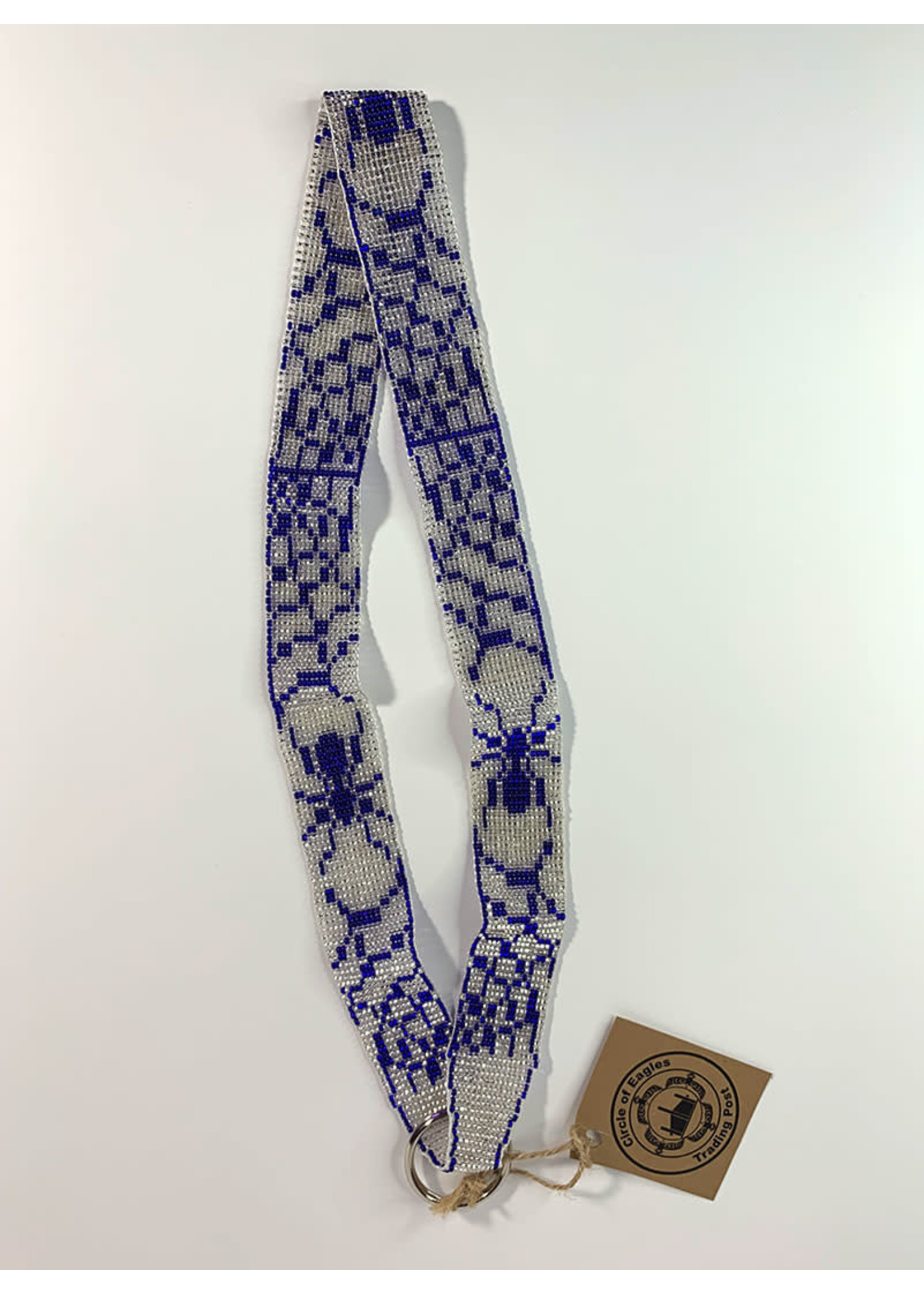 Circle of Eagles Beaded Lanyard Spider in Web