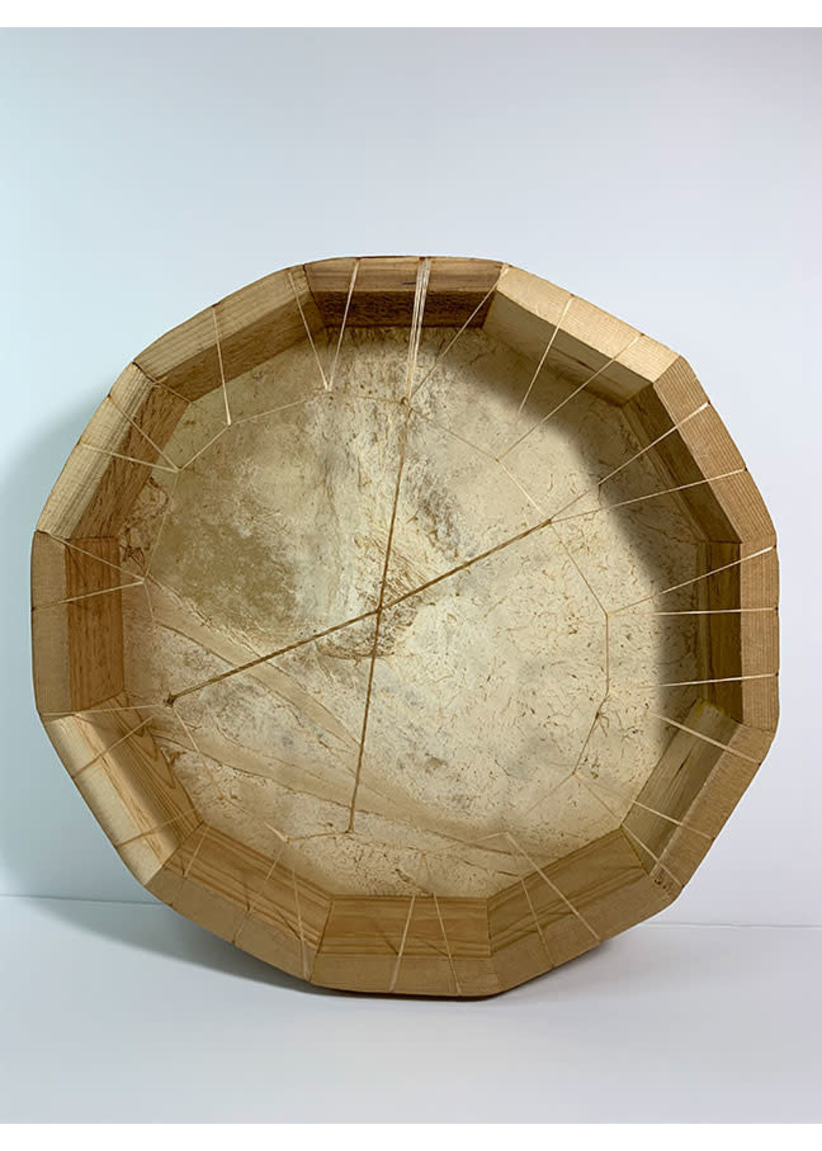"""Circle of Eagles Drum 14"""" Hand Made on Cedar Frame"""