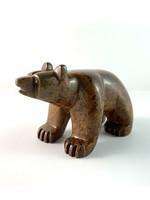Howard Moose Soapstone Carved Light Brown Bear