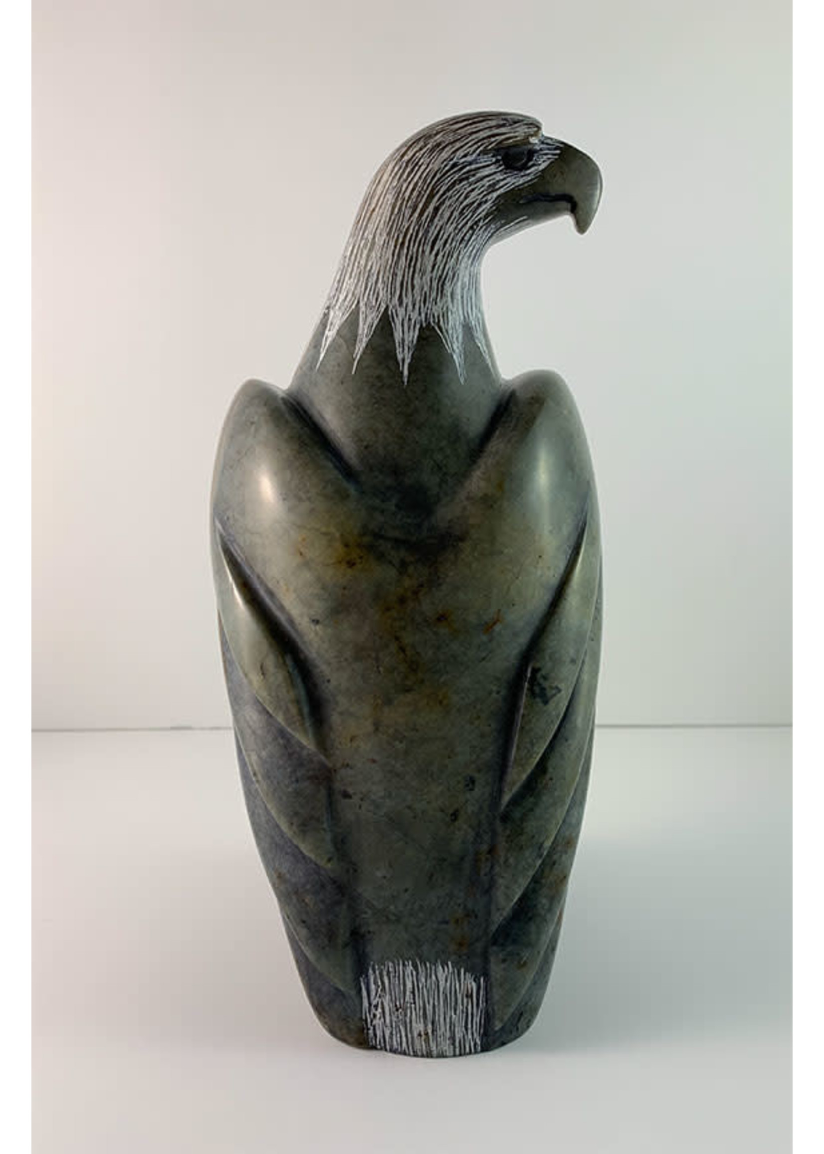 Howard Moose Soapstone Carved Eagle Head Turned Right (SOLD)