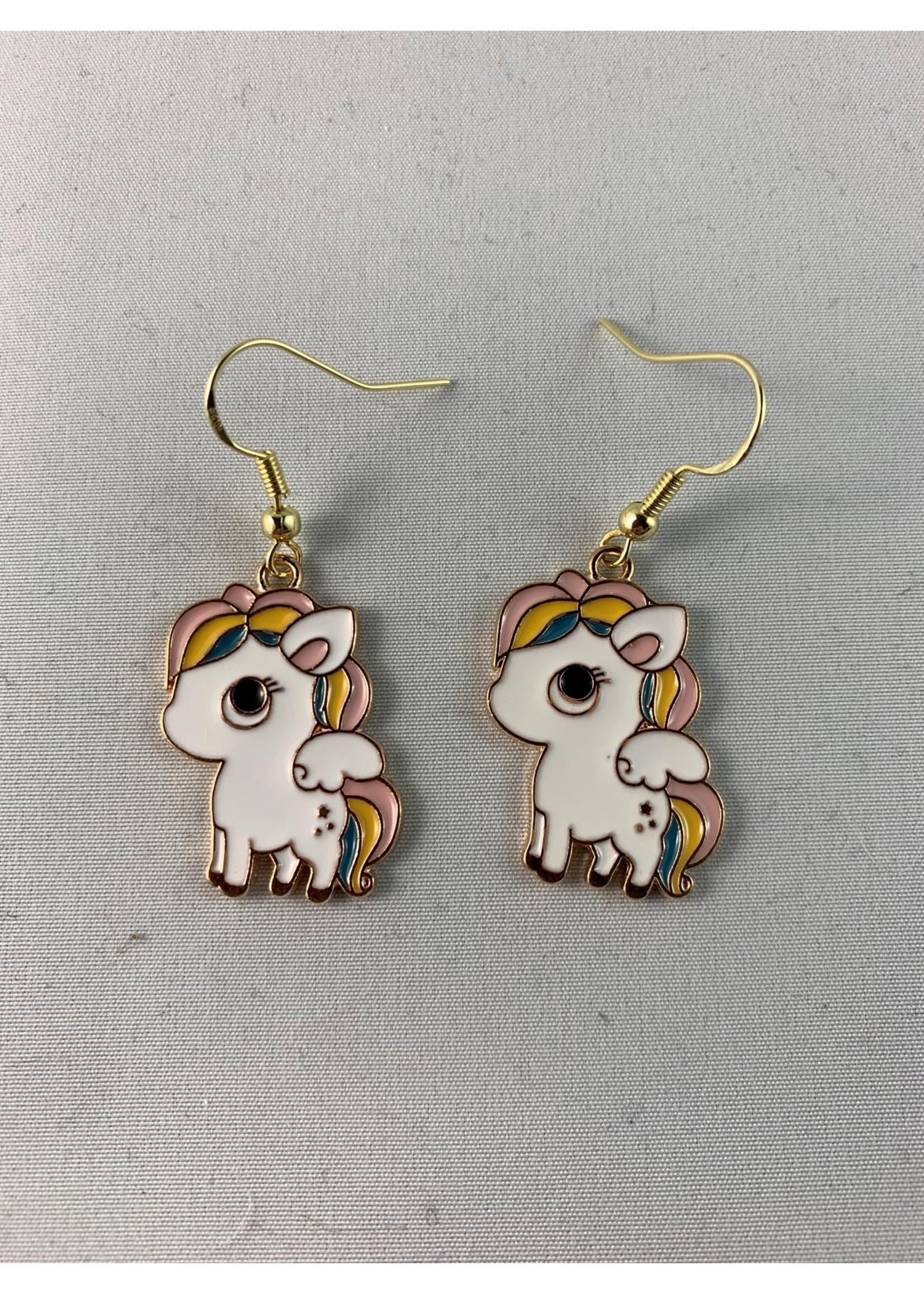 Earrings Cartoon Pegasus