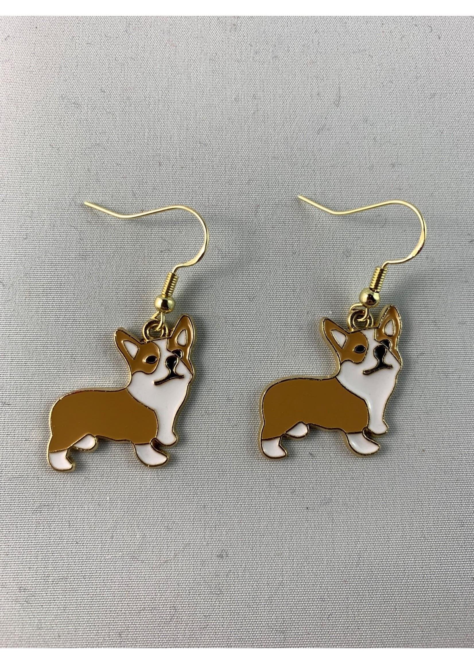 Earrings Corgi Dogs