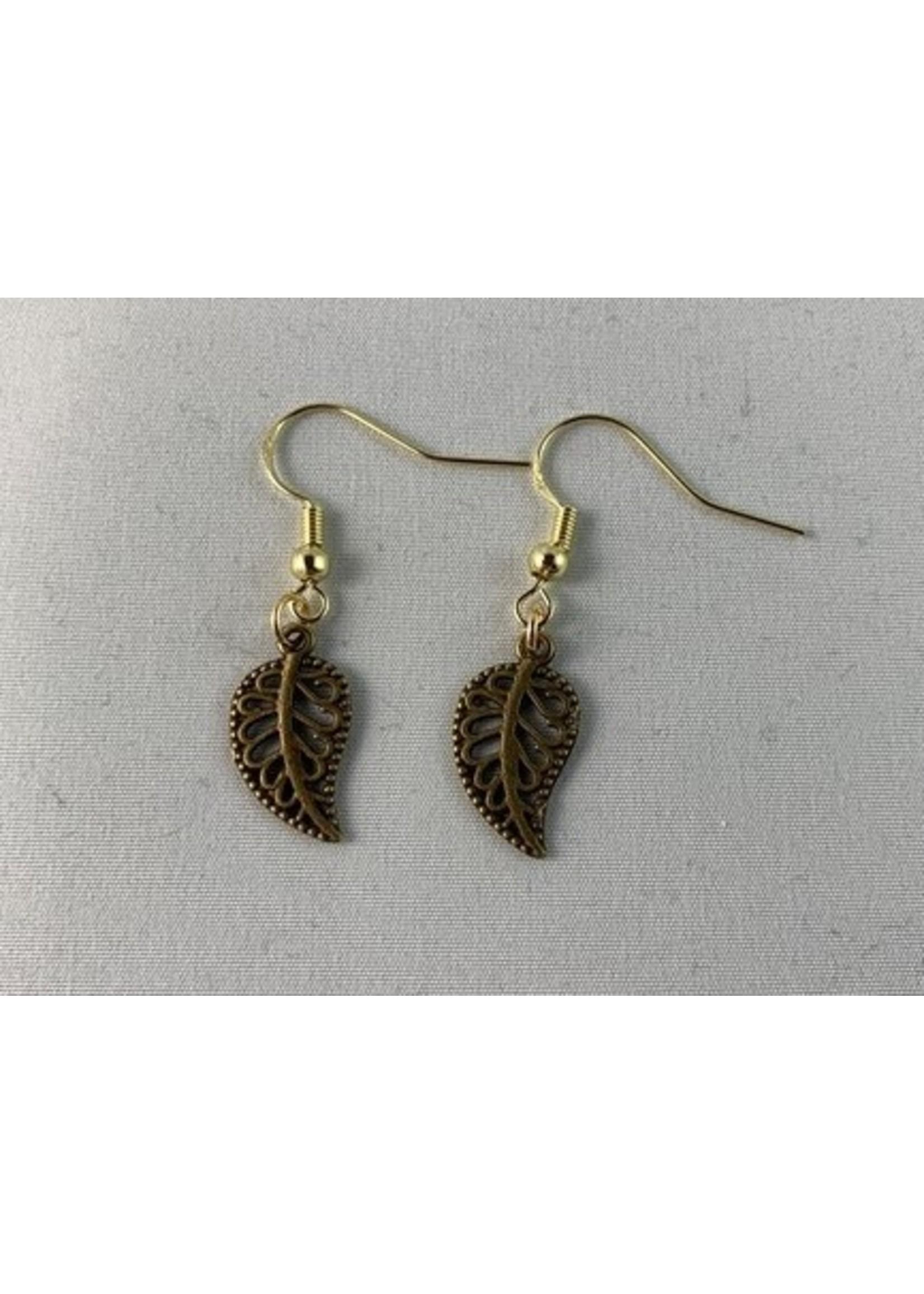 Earrings Bronze Leaf