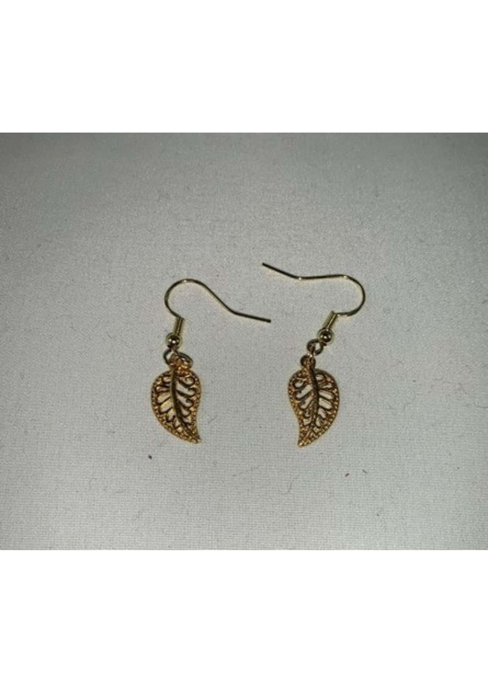 Earrings Golden Leaf