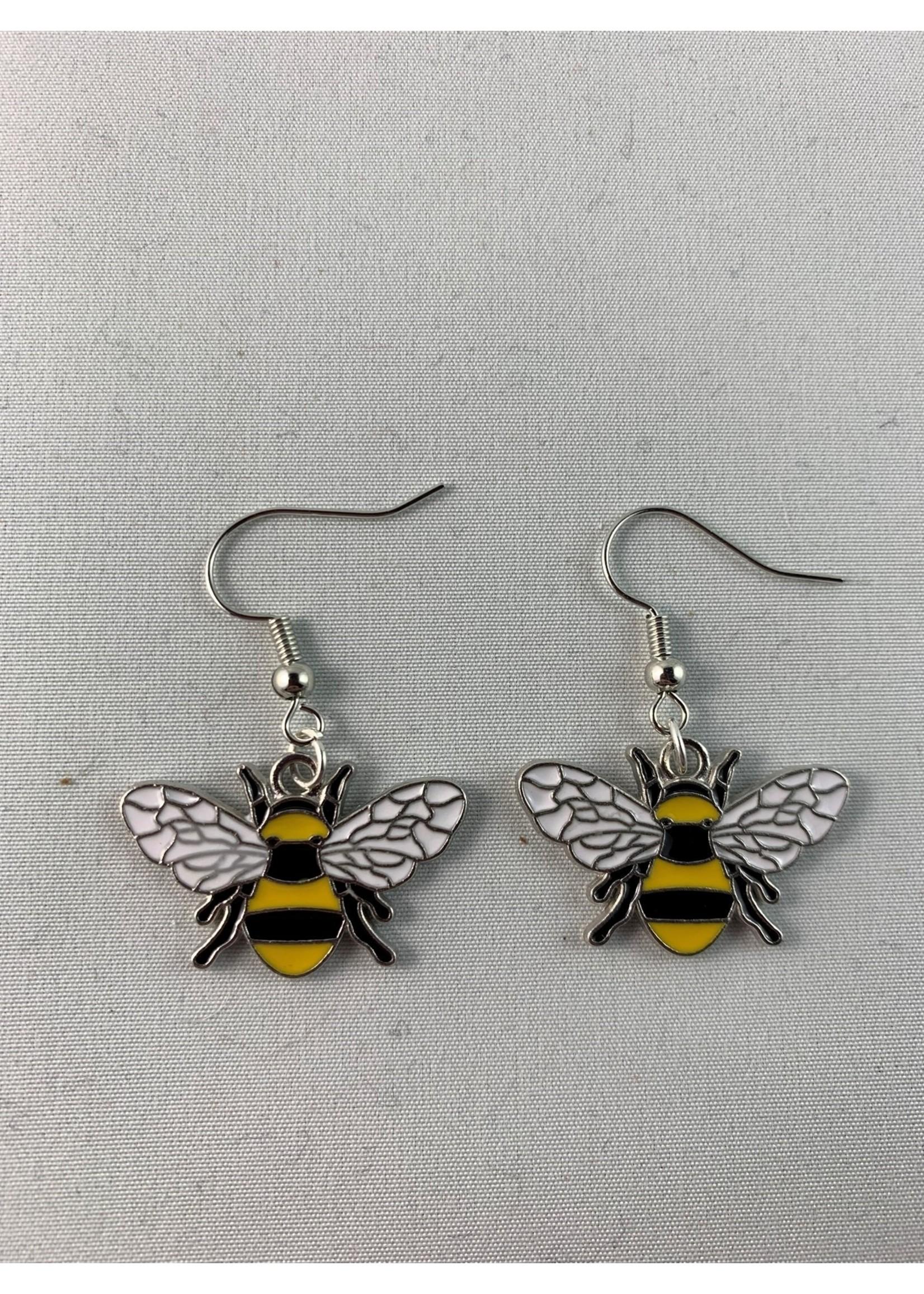 Earrings Silver Bumblebee