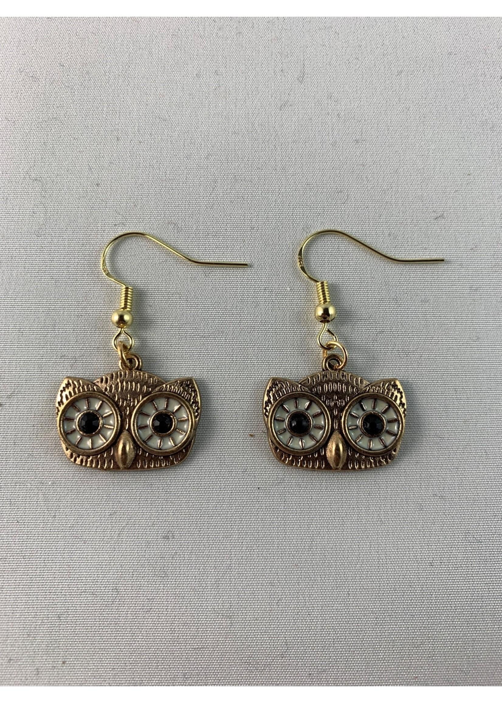 Earrings Owl Faces