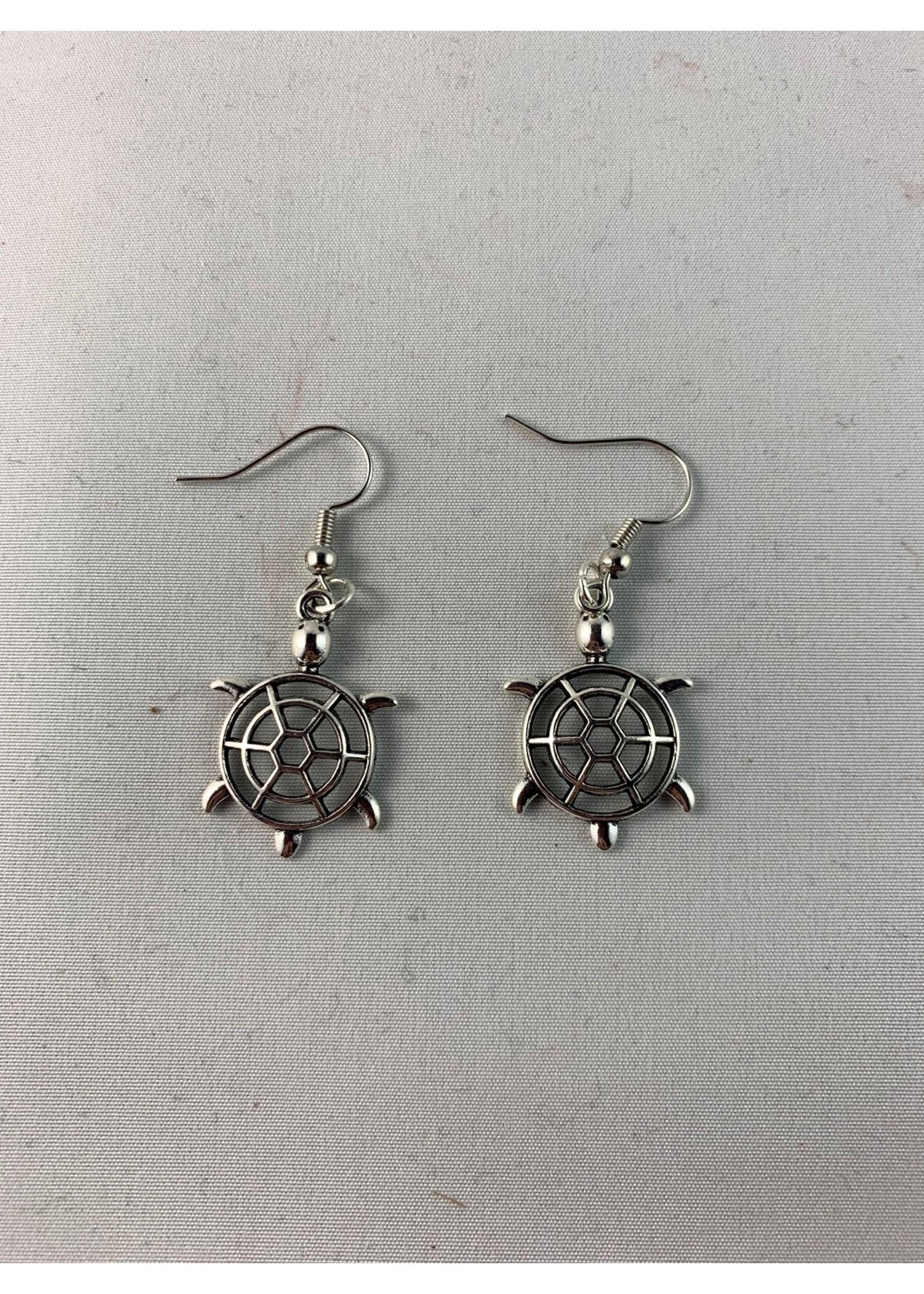 Earrings Silver Turtles