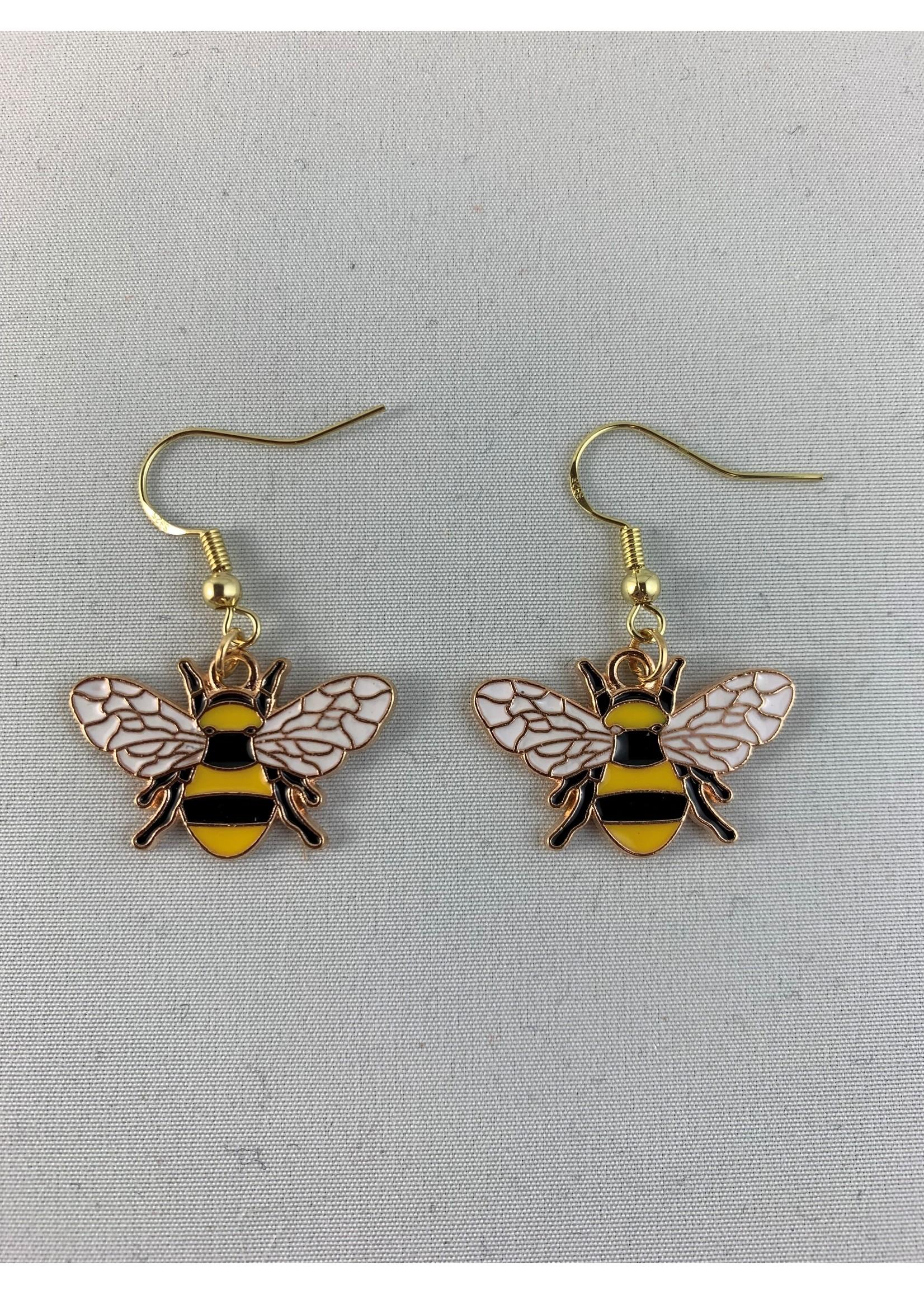 Earrings Golden Bumblebee