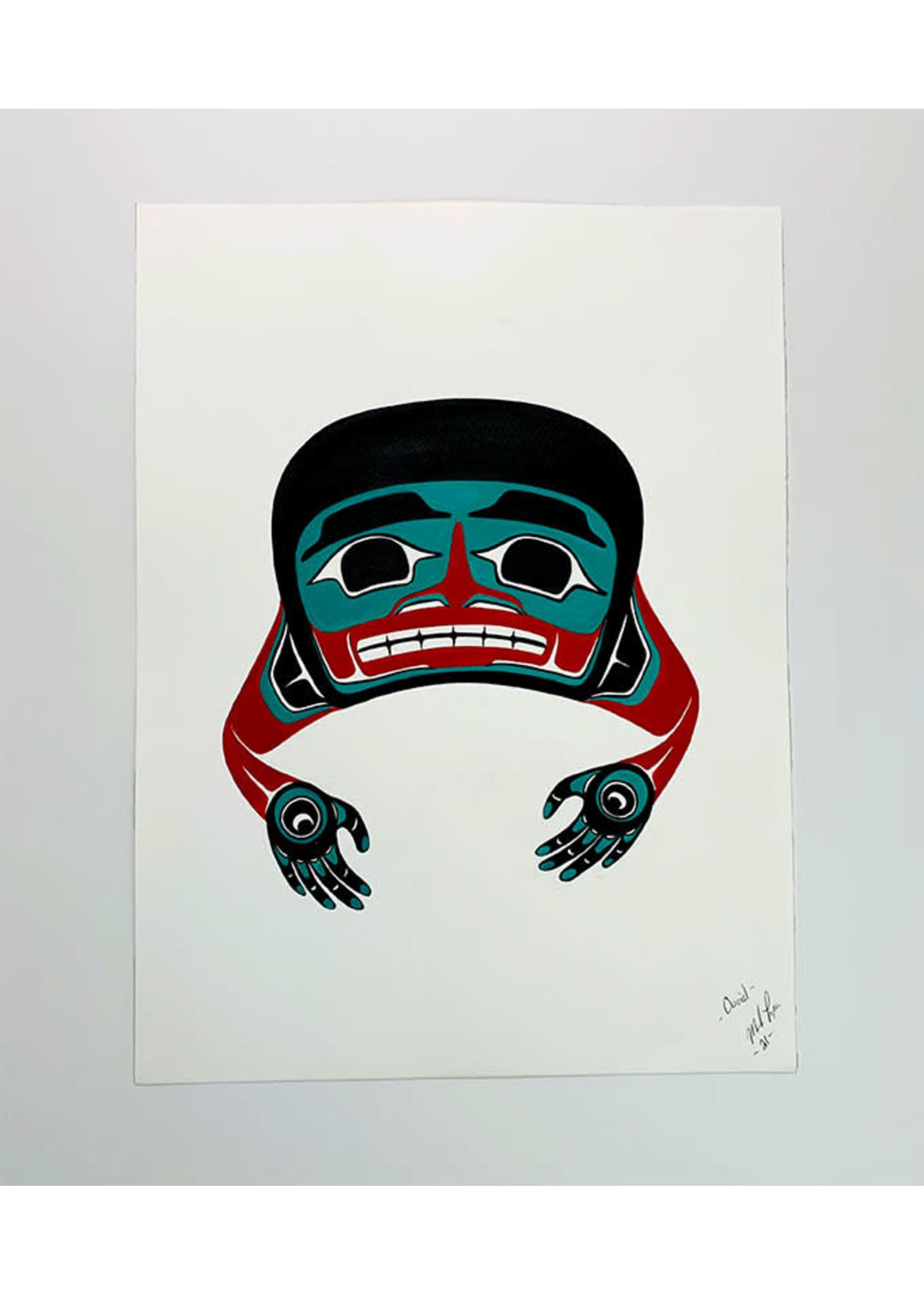 Ovoid - Acrylic on Paper