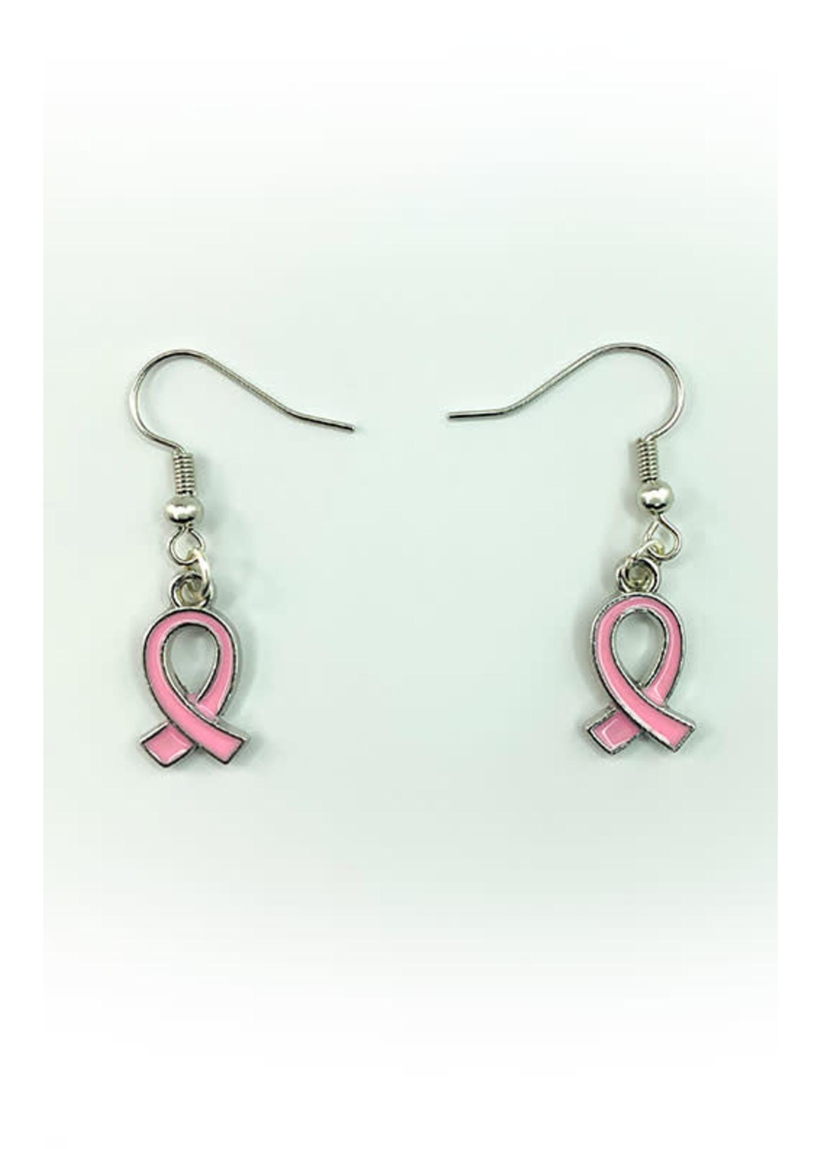 Earrings Breast Cancer Symbol