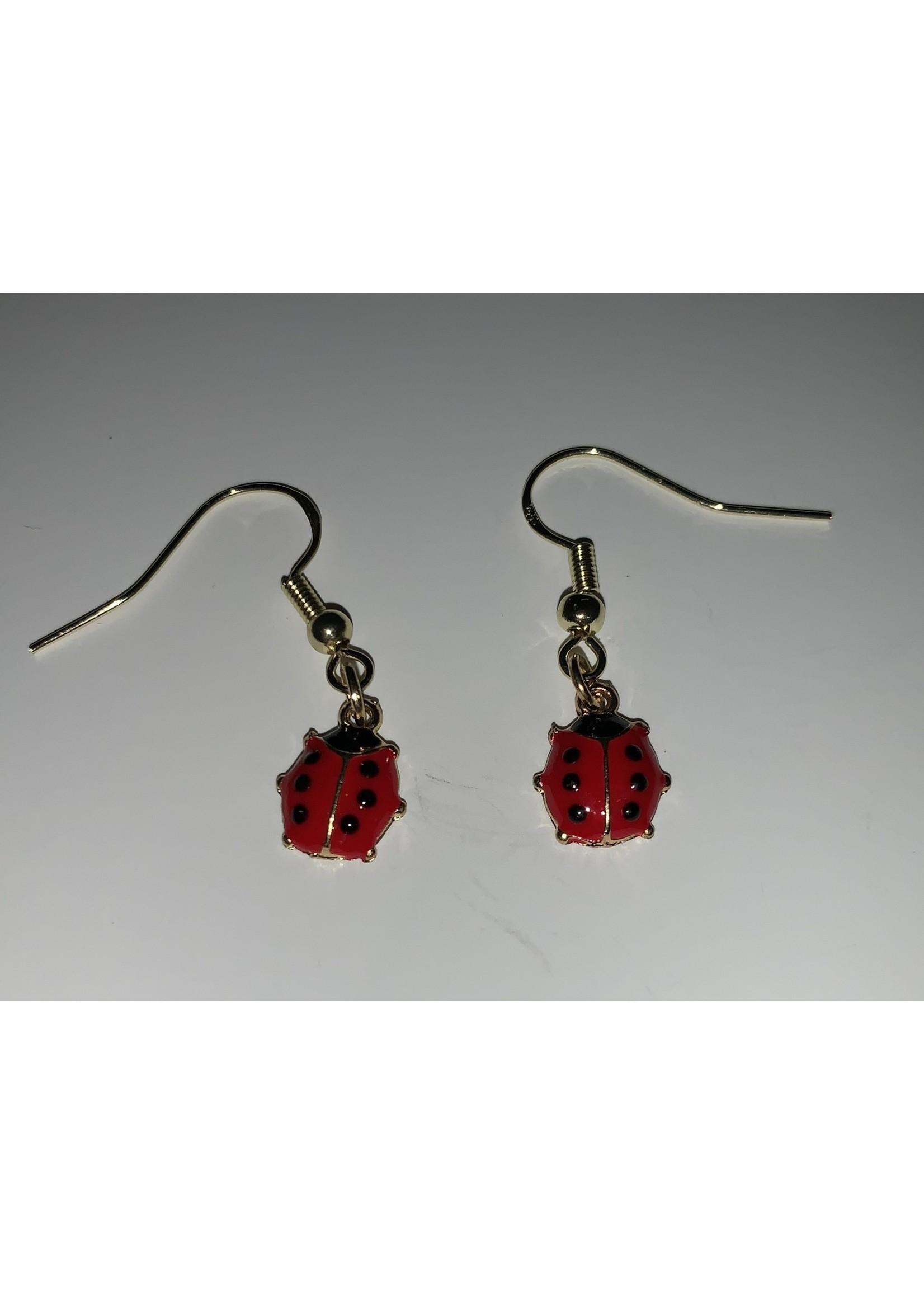 Earrings Ladybugs